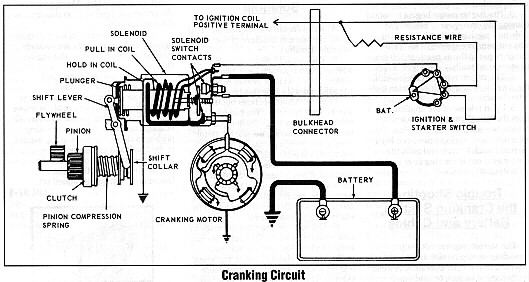starter motor connection diagram wiring diagrams  starting motor wiring diagram #14